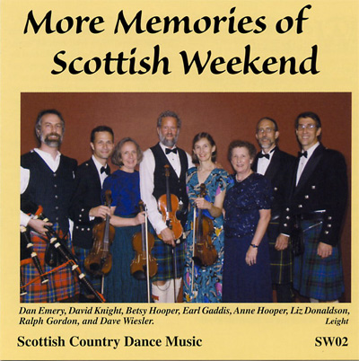 Cover: More Memories of Scottish Weekend CD, 2002